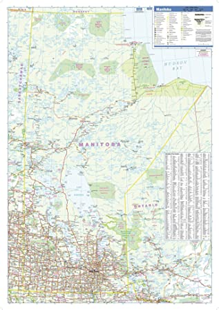 Manitoba Wall Map Paper Flat Tubed 28.75 x 40.75 inches