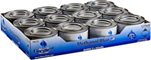 Methanol 7-Ounce Entertainment Cooking Fuel, 12 -Pack Gel Chafing Cans