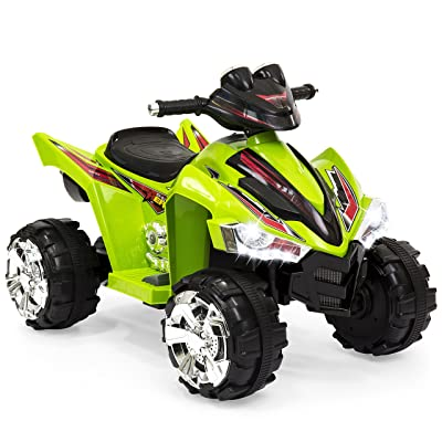 Best Choice Products Kids 12V Battery Powered Ride On 4-Wheeler ATV w/ LED Headlights, Forward and Reverse Gears - Green: Toys & Games