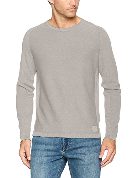 726515160068, Jersey para Hombre, Gris (Grey Stone Melange 939), Large Marc O'Polo