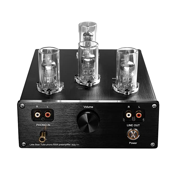 Review Nobsound Little Bear T11 6N2/12AX7 Vacuum&Valve Tube Phono Turntable Preamplifier; MM RIAA LP Vinyl Record Player Preamp; Stereo HiFi Audio Pre-Amplifier