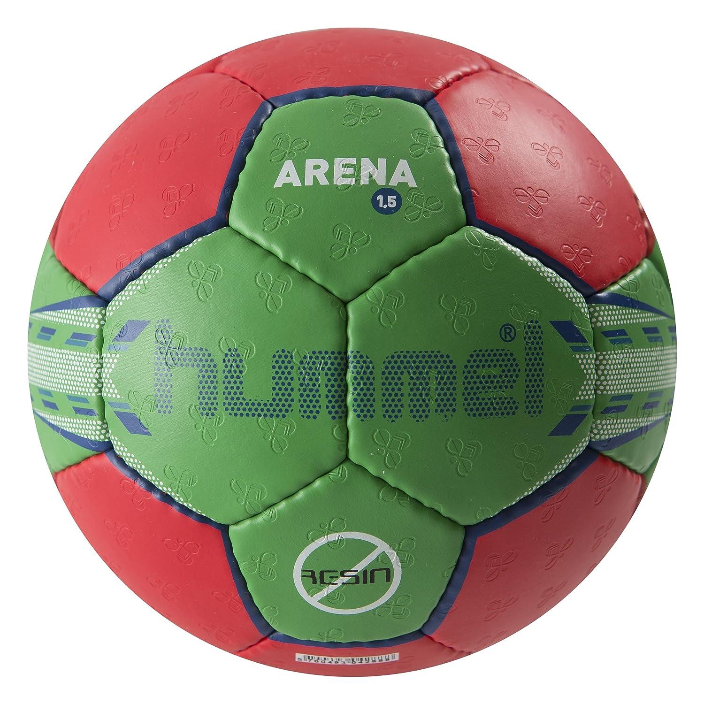 Hummel Palla da pallamano Adulti 1.5 Arena, Rosso (Red/Green), 3 91-725-3938