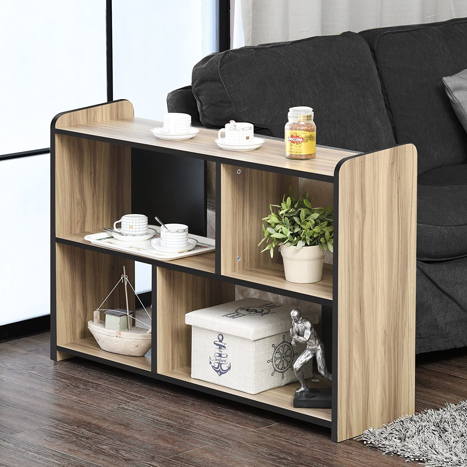 FITUEYES End Table Storage,Floor TV Media Stand ,Coffer Table ,Bookcase,BCT310601WB