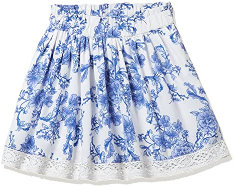 0b263ab075 Allen Solly Junior Girls' Skirt (AKGSK318832_Off White/Blue_2-3 Years)