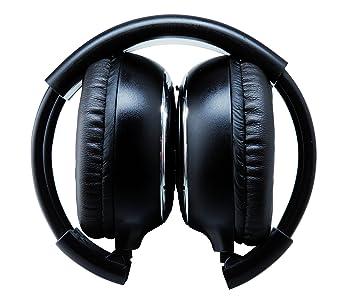 Avantia 200 - Auriculares Plegables inalámbricos por Infrarrojos (de Doble Canal, Compatible con Sistema de DVD Avantia 7HD y 9HD) Negro: Amazon.es: ...
