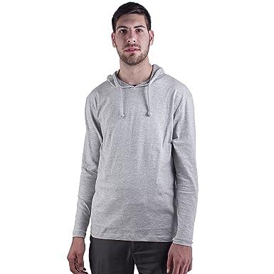 42a1e88e378 Mens Long Sleeve Super Soft Jersey Lightweight Hoodie Sweatshirt  (XXX-Large