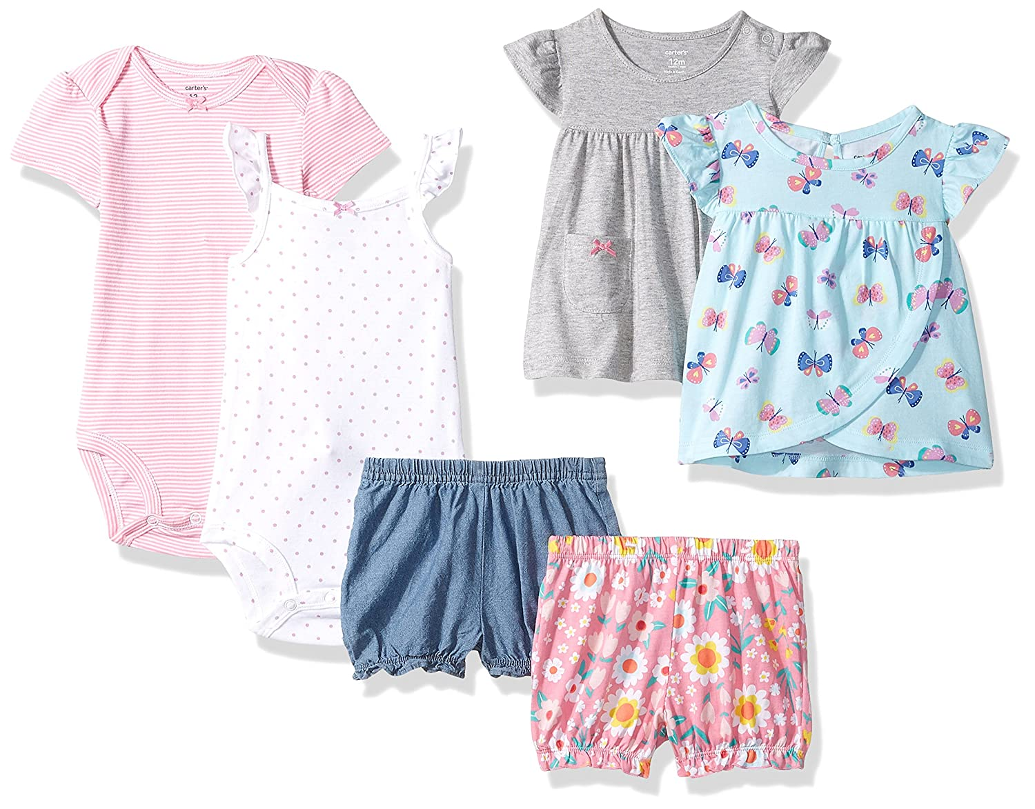c79f736bf Online Cheap wholesale Carters Baby Girls 6-Piece Bodysuit Tee and Short Set,  Short Sets Suppliers