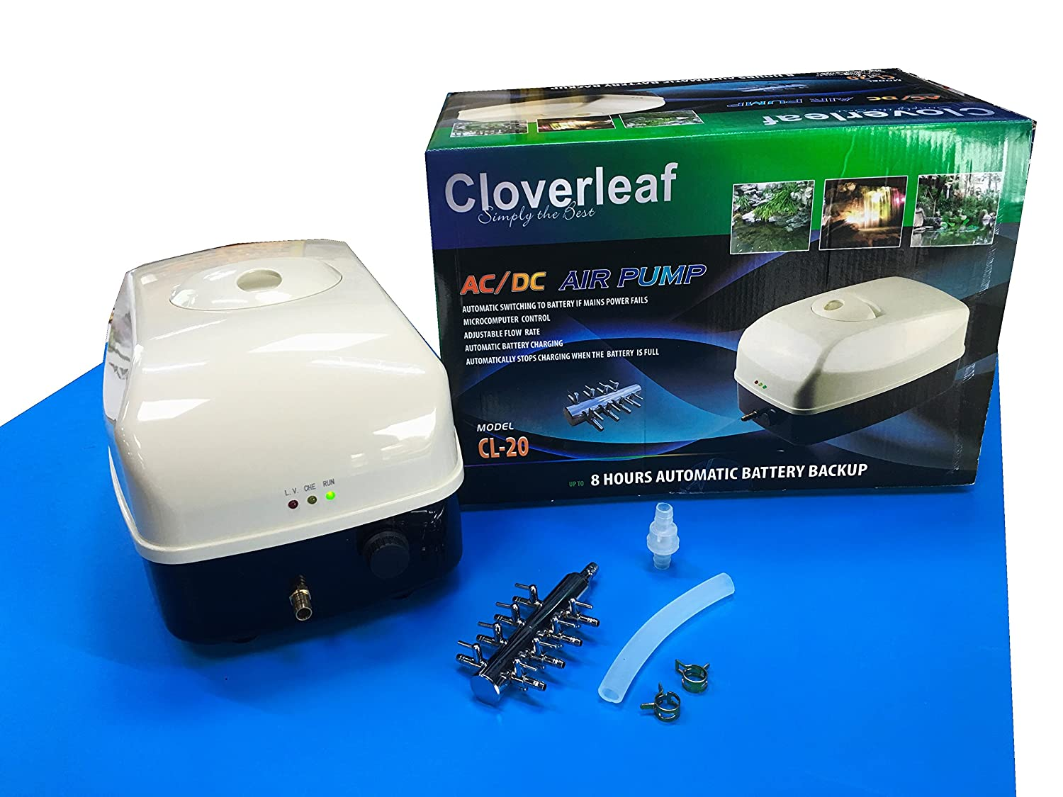 Cloverleaf CL-20 Smart Air Pump With upto 8 Hour Battery Backup AC/DC
