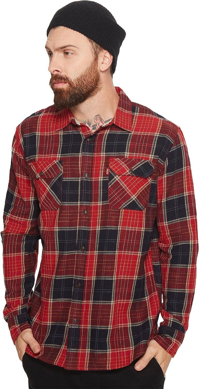 Levis Mens Wabash Slub Twill Long Sleeve Shirt Nightwatch Blue XX Large At Amazon Clothing Store
