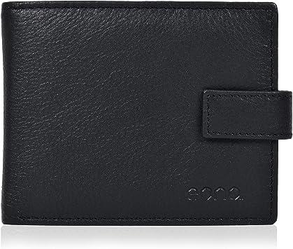 Femme Luxe Super Doux Cuir Véritable RFID blocking Wallet Sac à main noir