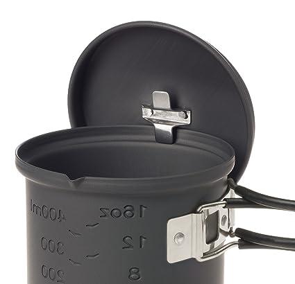 Esbit Cookset Conjunto para cocinar con combustible sólido (bote sin revestimiento antiadherente), color gris, talla 585mL: Amazon.es: Deportes y aire libre