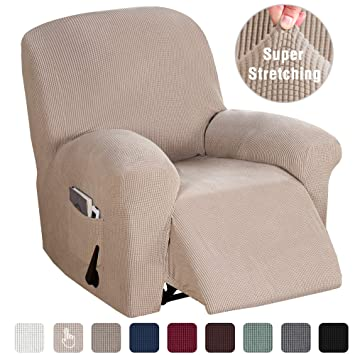 Fantastic Recliner Chair Cover Durable Soft High Stretch Sofa Cover 1 Piece Recliner Covers For Large Recliner Furniture Protector With Elastic Bottom Caraccident5 Cool Chair Designs And Ideas Caraccident5Info