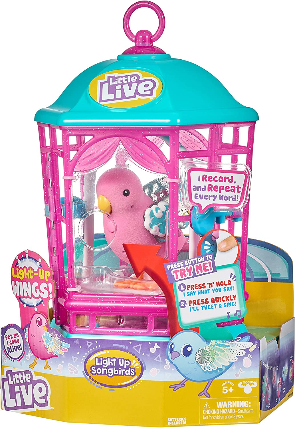 Little Live Pets Light Up Bird Cage Rainbow Glow Character Options Amazon Co Uk Toys Games