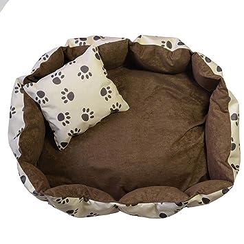 OrLine Cama de Lujo Perros Perros Cojín con Inferior un Antideslizante Suelo Color tamaño Elegible S - XXL: Amazon.es: Productos para mascotas