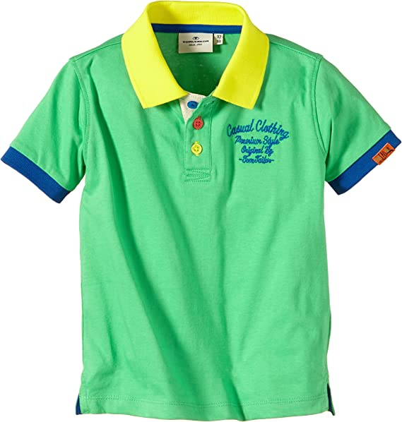 Tom Tailor - Polo para niño, Talla 9 años (134 cm), Color Verde ...