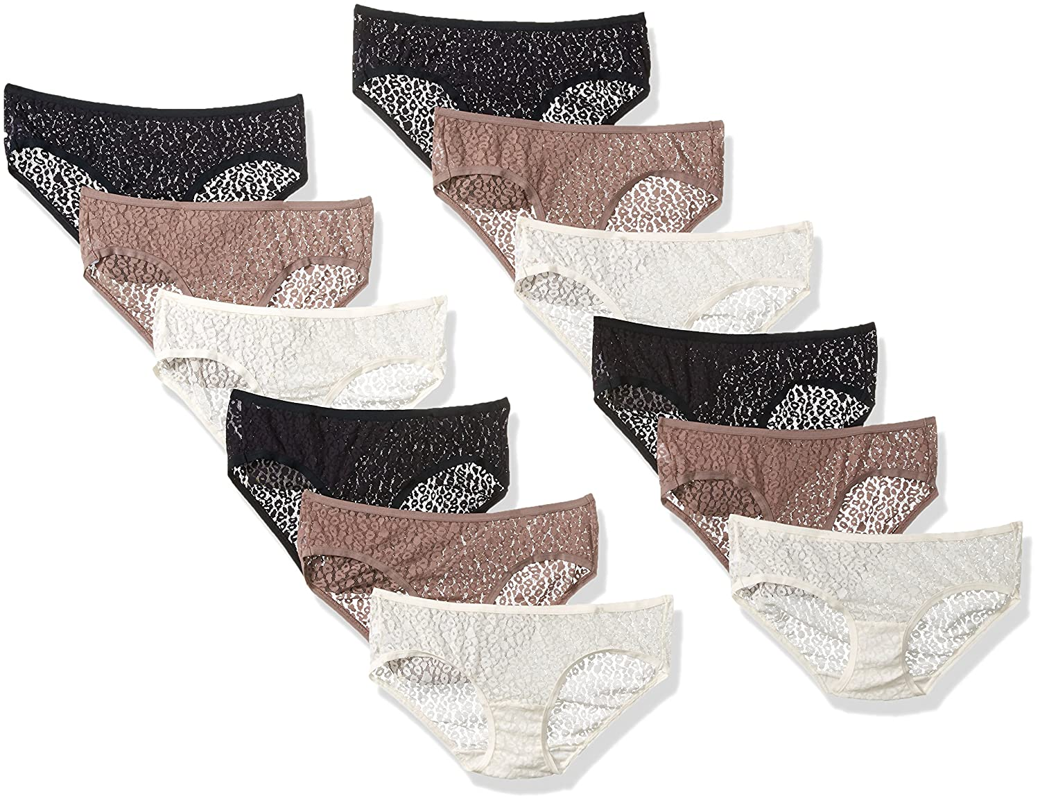 c057e72df2852 Fruit of the Loom Women s 12 Pack All Over Lace Hipster Panties at Amazon  Women s Clothing store