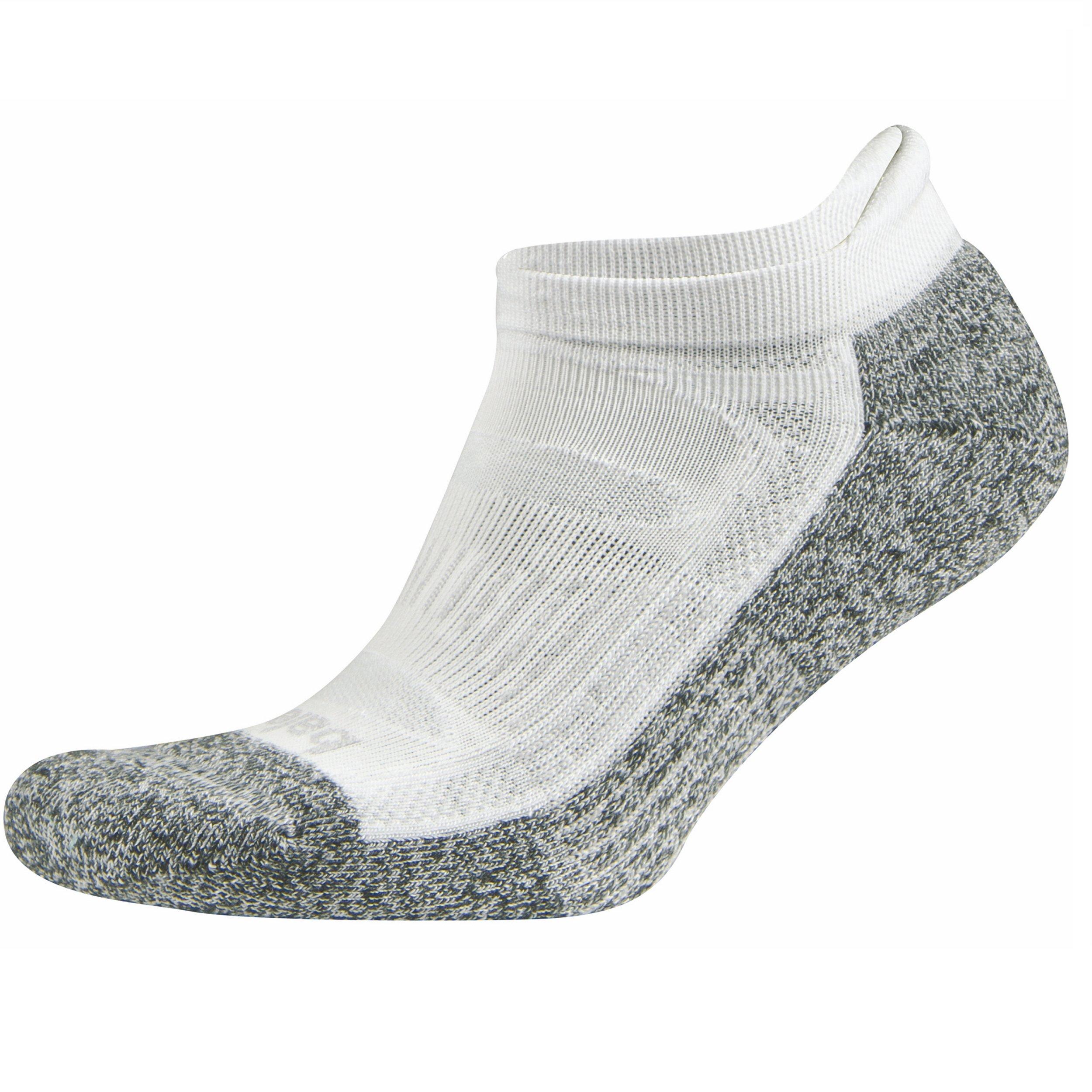 Balega Blister Resist No Show Socks For Men and Women (1-Pair), White, Large
