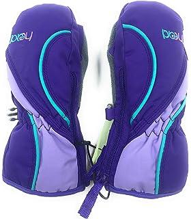 HEAD Jr Ski Mittens Kids Girls Purple Sorona Zip Thermal Waterproof Snow Gloves