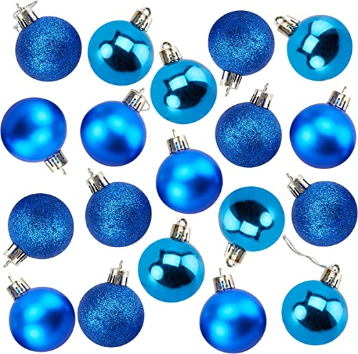 "New Trim A Home 30ct Shatterproof Silver Christmas Ornaments Glitter Matte 2/"""