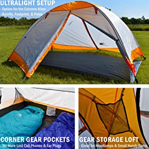 Best Budget Backpacking Tent Under 5 lbs. Hyke & Byke Yosemite
