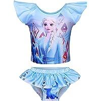 DSL Princess Traje de baño de dos piezas para niñas, traje de baño para regalo de cumpleaños, día festivo