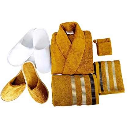 KOYOKA Rock Daniel Men s Cotton Bathrobe Set (1 Bathrobe  1 Big Towels  1 2a00a334c