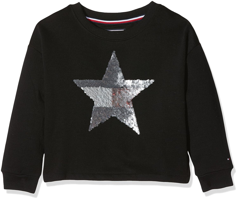 Tommy Hilfiger M/ädchen H Sequins Star Cn HWK L//S Sweatshirt