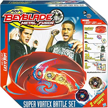Hasbro Beyblade 19980 Metal Fusion Super Vortex Battle Set Amazon De Spielzeug