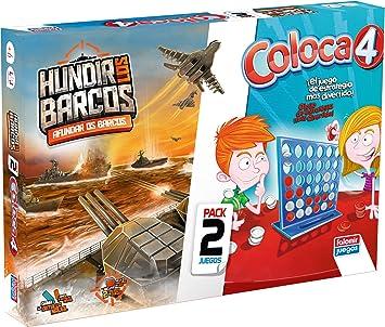 Falomir Coloca 4 + Hundir Barcos (Pack de Juegos de Mesa ...