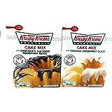Krispy Kreme Doughnut Cake Mix with Original Icing and Chocolate Icing Pack of 2