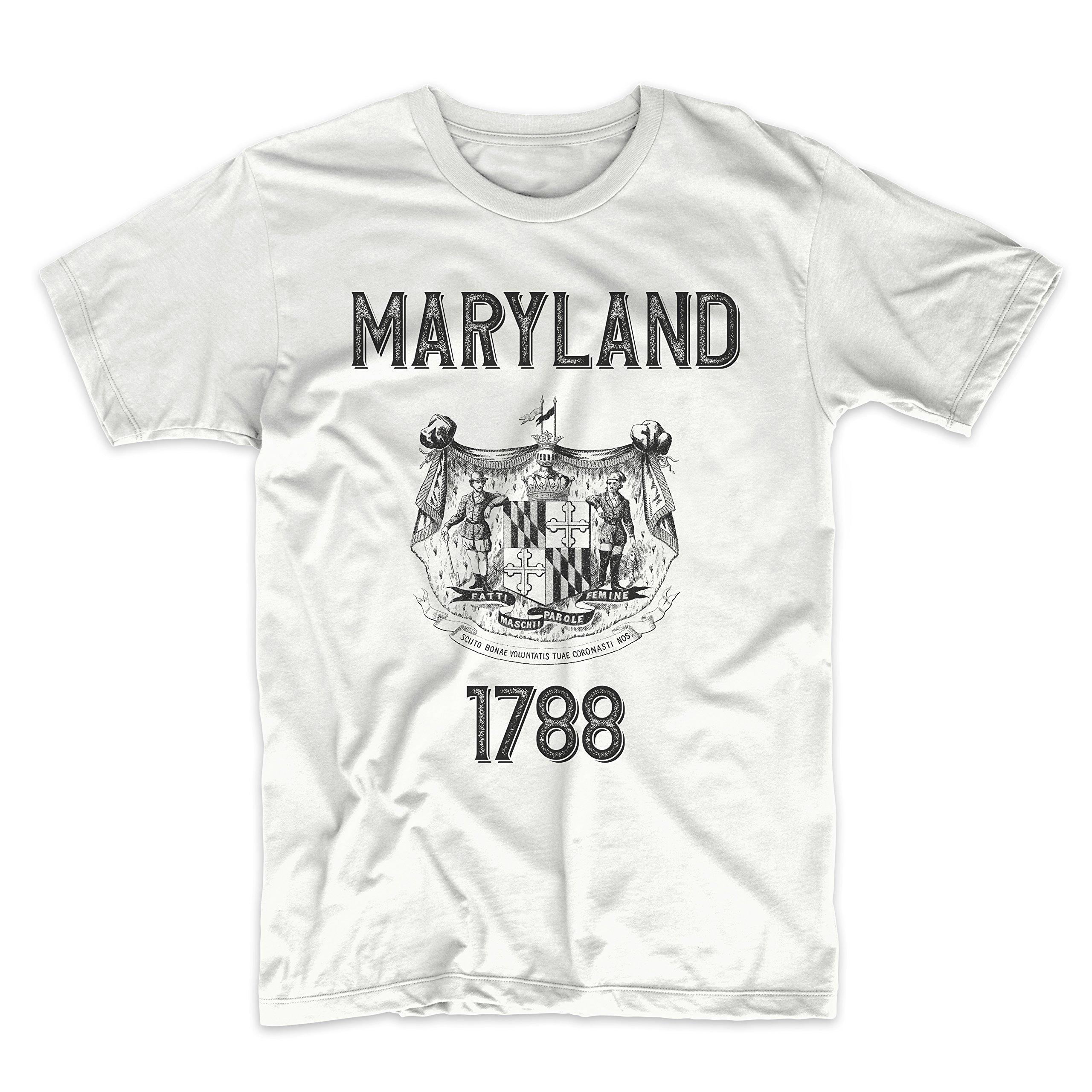 PatentPrints Maryland Coat of Arms T Shirt