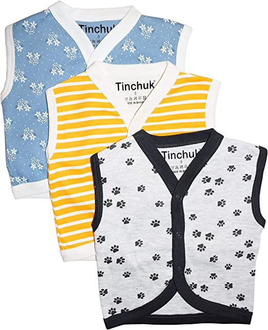 938b5f848 NammaBaby Baby Boy s Cotton Front Open Sleeveless Vest- T-shirt ...