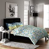 Dreamline Classic Green Striped Double Bedsheet with 2 Pillow Cover Set (7008)