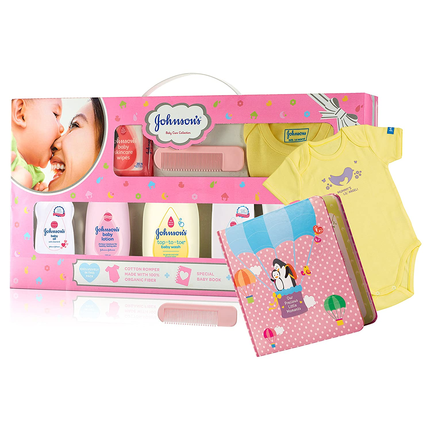 Johnson's Baby Care Collection Baby Gift Set With Organic