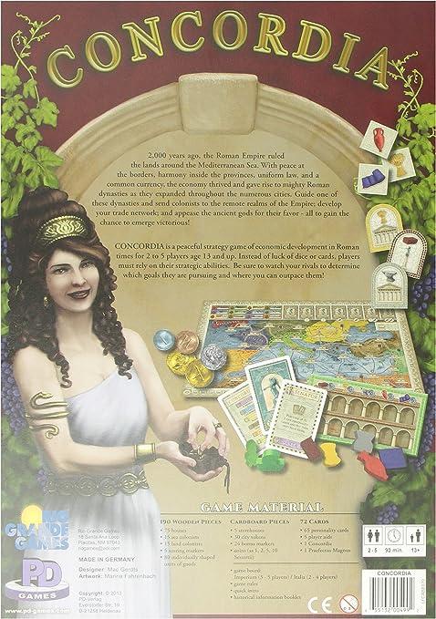 Rio Grande Games 499 Concordia Juego: Amazon.es: Juguetes y juegos