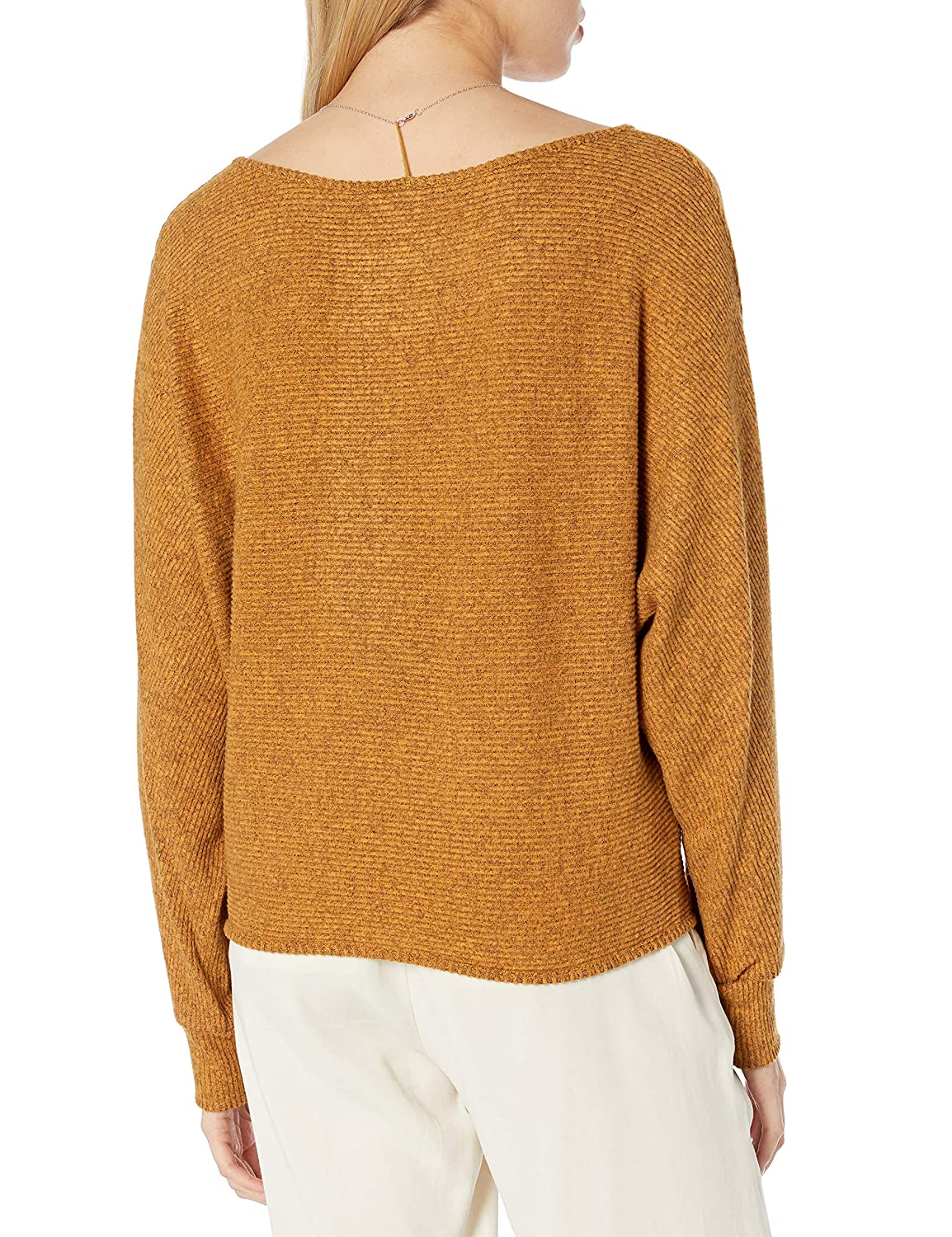 Byer Womens Cropped Dolman Sleeve Pullover Top A