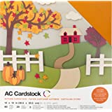 """American Crafts 376987 Cardstock Variety Pack Autumn 60 Sheets of 12 X 12"""" Cardstock"""
