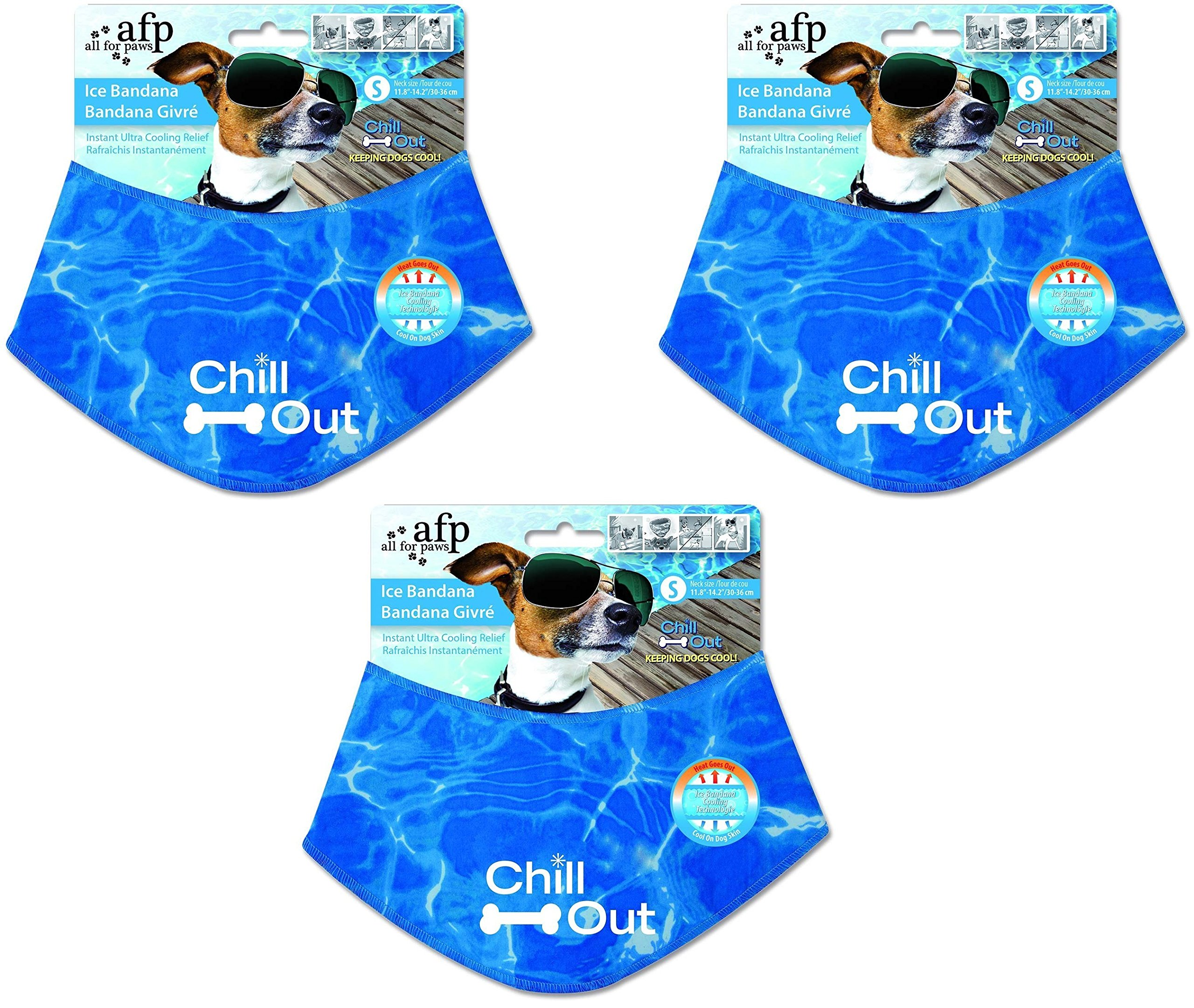 (3 Pack) All for Paws Chill Out Ice Bandanas, Small
