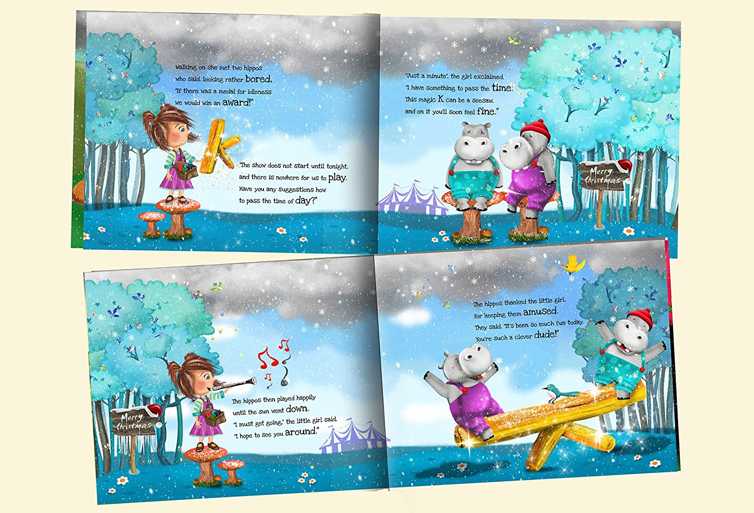 Amazon.com: Personalized Children\'s Christmas Story Book - Totally ...