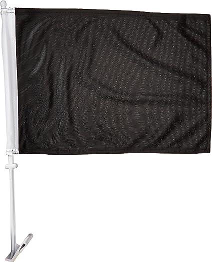 Black Online Stores Solid Car Flag