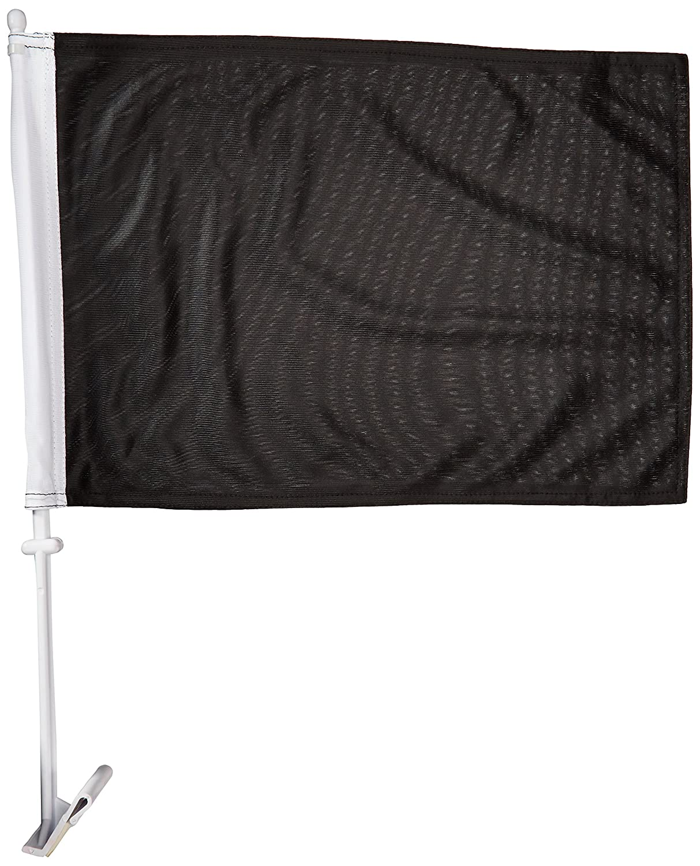 Online Stores Solid Car Flag, Black Online Stores Inc. CFBLACK