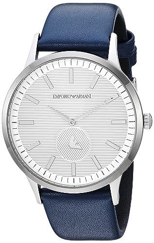 Emporio Armani Reloj Analogico para Hombre de Cuarzo con Correa en Cuero AR11119: Amazon.es: Relojes