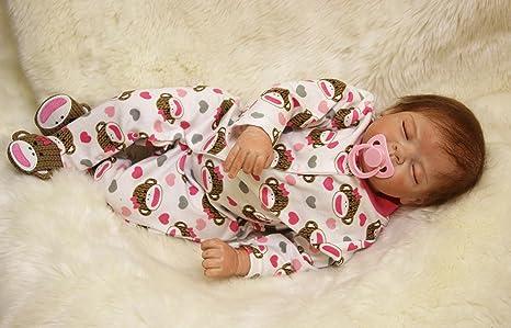 "Review OtardDolls Hot sale soft vinyl silicone reborn doll 22"" reborn baby doll lifelike baby doll children gifts"
