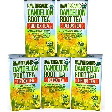 reliable Dandelion Root Tea Detox Tea - Raw Organic Vitamin Rich Digestive - 5 Pack