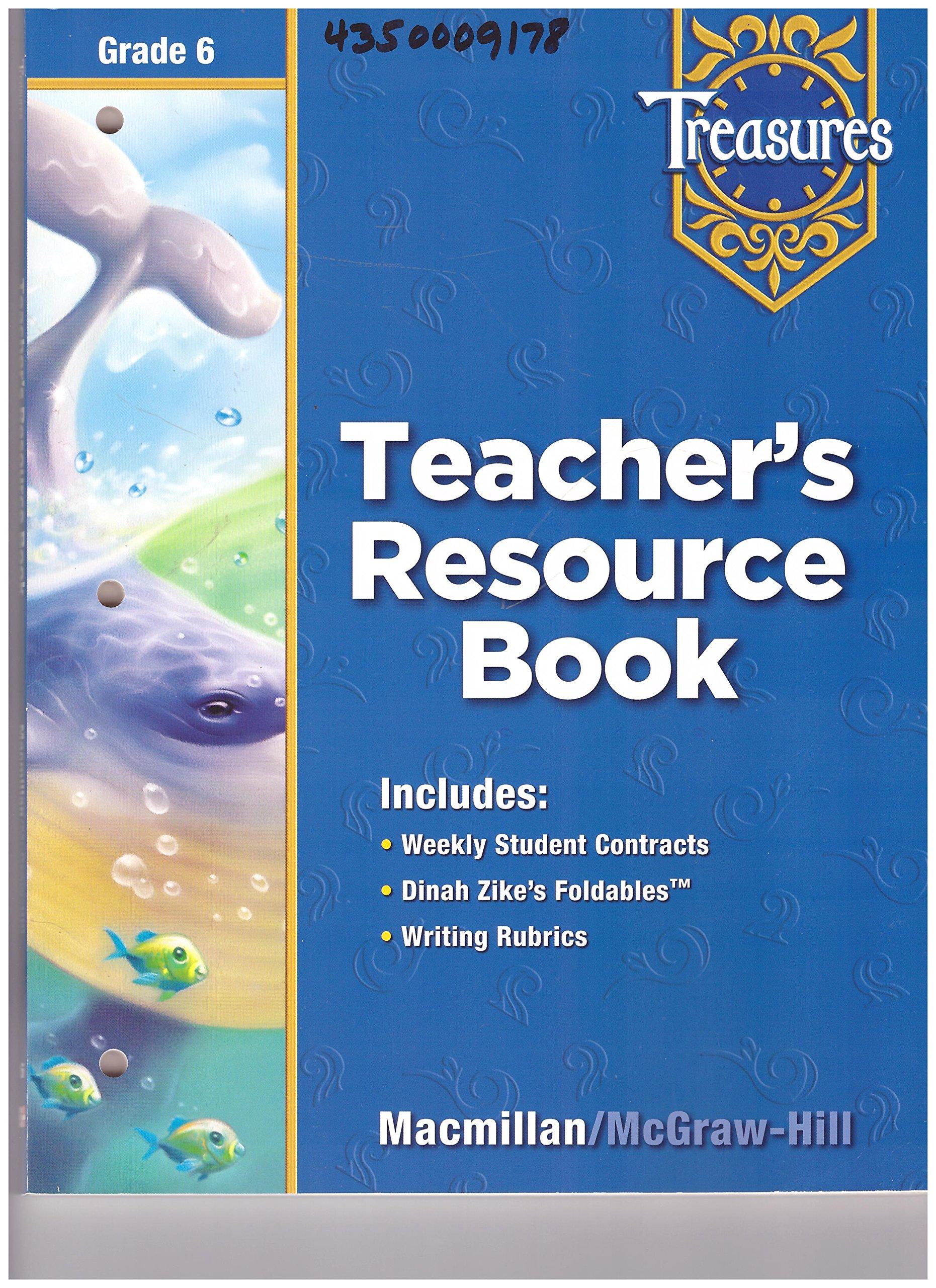 Teacher's Resource Book Grade 6 (Treasures): Macmillan McGraw Hill