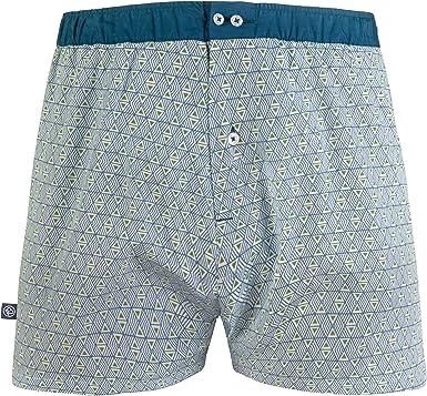Les Gus – Calzoncillos para Hombre, algodón, Azul y Blanco, diseño ...