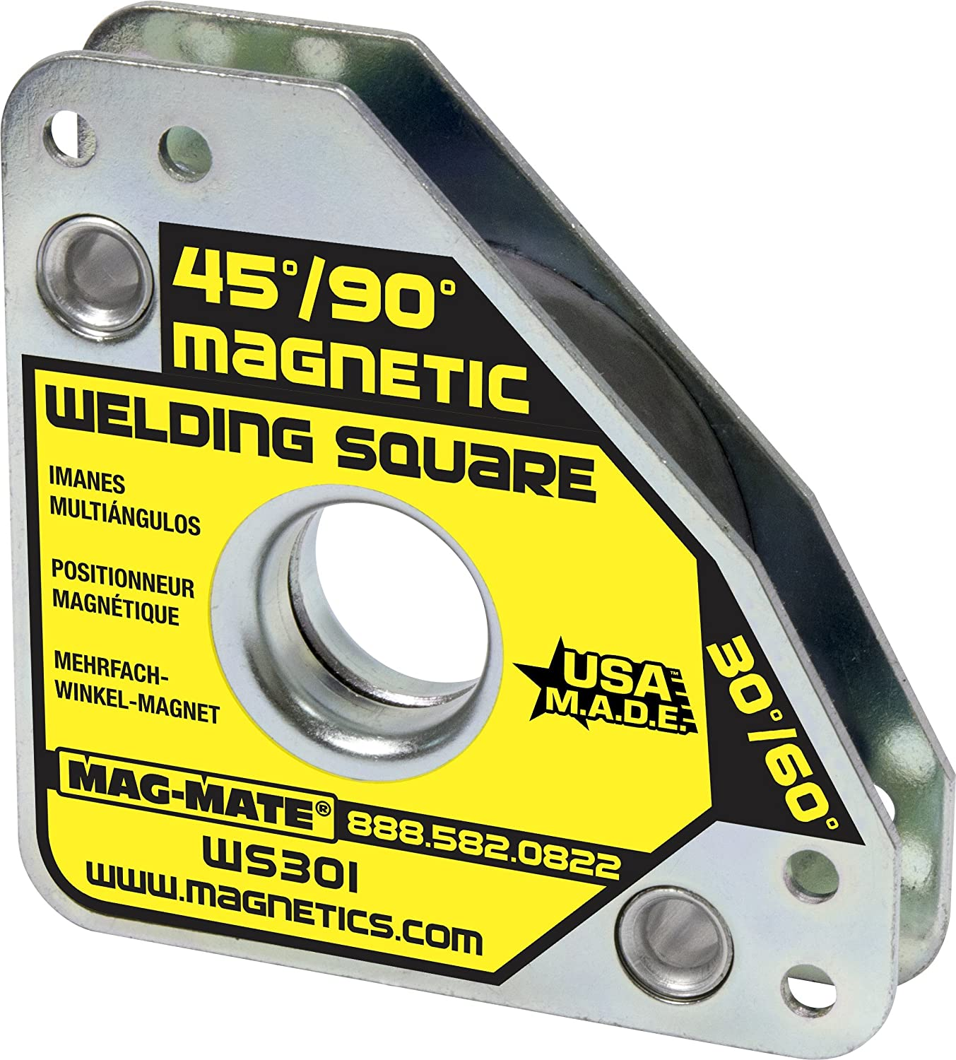 MAG-MATE WS301 Compact Multi Angle Magnetic Welding Square with 55 lb Capacity Industrial Magnetics Inc