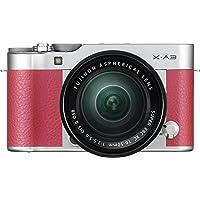 "Fujifilm X-A3 - Cámara EVIL de 24 MP (pantalla táctil de 3"", obturador electrónico, video Full HD, Wifi) rosa - kit cuerpo con objetivo XC 16-50 mm"
