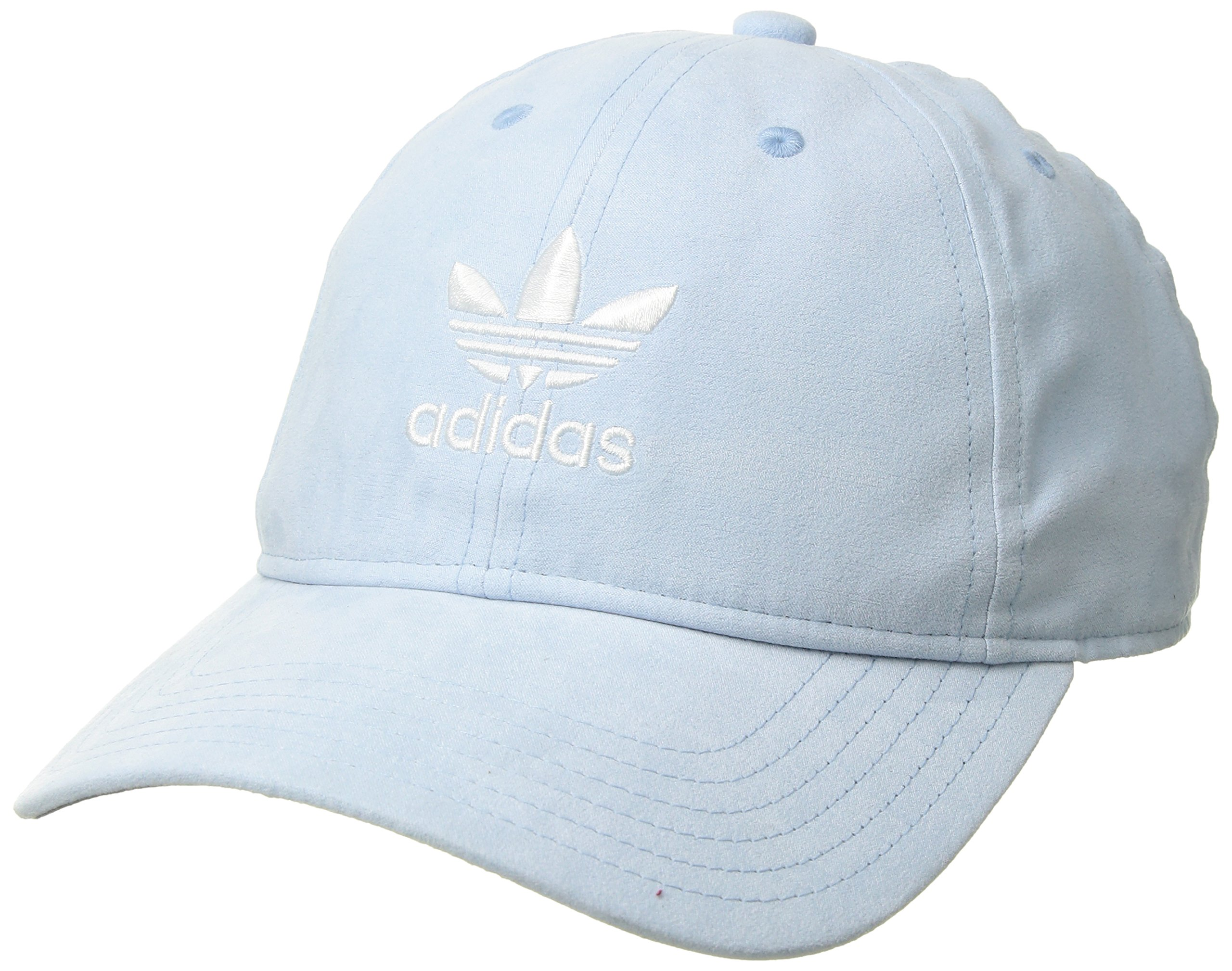 adidas Women's Originals Relaxed Plus Adjustable Strapback Cap, Aero Blue Suede/White, One Size by adidas (Image #1)