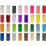 24 Rollen Qualitäts – Overlockgarn – 3000 yards - freie Farbwahl aus 32 Farben - Overlock - Garn – reißfest